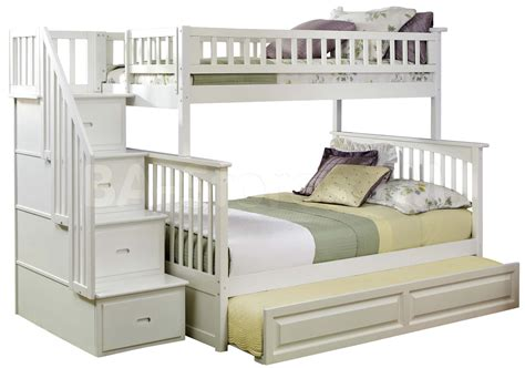 bedroom white bed set bunk beds with slide cool loft