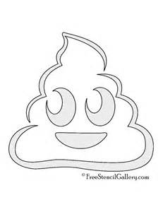 Emoji Poop Pumpkin Stencil Printable