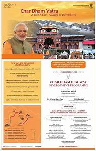 Chardham Highway Development Project for Easy & Safe Char ...