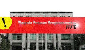 beranda pusat pelaporan dan analisis transaksi keuangan