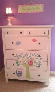 Customizing A Plain White Ikea Dresser With Wall Decals