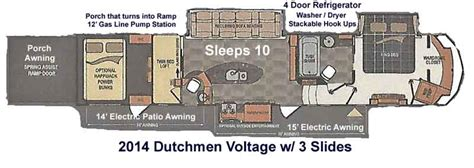 2014 Voltage Hauler Floor Plans by 2014 Dutchmen 5th Wheel Hauler Voltage 3990 Ebay