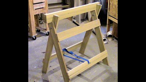 build  double duty sawhorse workbench youtube