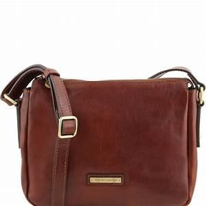 Sac Bandoulière Cuir Marron : sac bandouli re cuir femme tuscany leather ~ Melissatoandfro.com Idées de Décoration