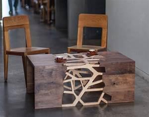 Table Basse Bois Moderne : une table basse en design moderne par gradient matter ~ Melissatoandfro.com Idées de Décoration