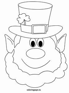 Leprechaun coloring pages dr odd for Leprechaun mask template