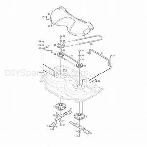 Stiga 95cm Combi Manual Deck  2008  Parts Diagram  Page 3