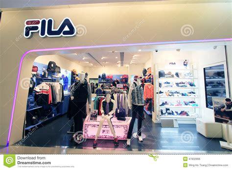 fila shop  hong kong editorial photo image  clothes