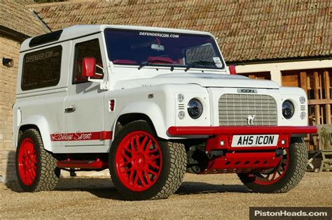 icon land rover classic land rover defender icon sport wagon rs white e