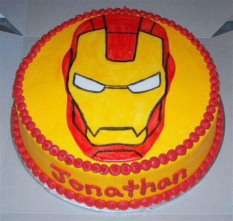 Permalink to Pretty Photo Of Iron Man Birthday Cake