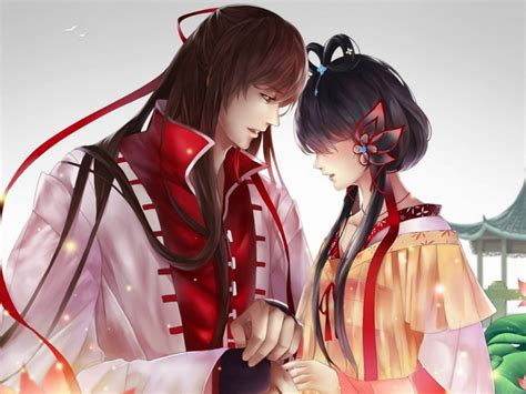 Anime Couple Hd Wallpaper Download Cute Anime Couple Beautiful Hd Wallpaper For Desktop And