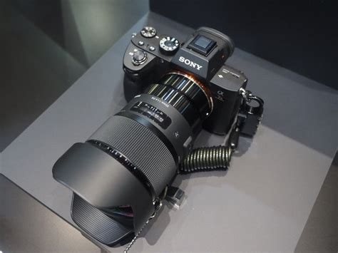 sigma 24mm f 1 4 dg hsm new sigma e mount lenses at 2018 cp show ears