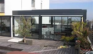 Prix Veranda Alu : veranda haut de gamme montpellier verre alu petite ete hiver amovible contemporaine pente inversee ~ Melissatoandfro.com Idées de Décoration