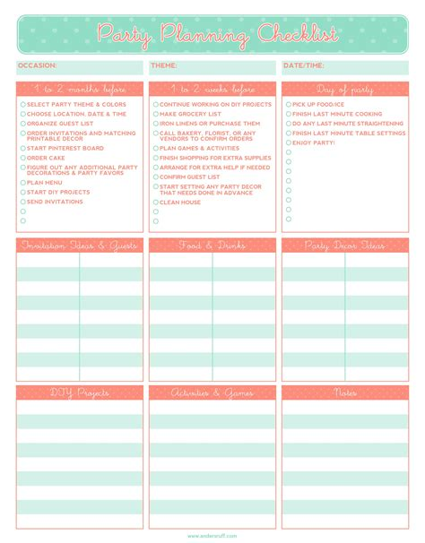 Kitchen Ideas On A Budget - free printable party planning checklist it 39 s the little things that count pinterest party