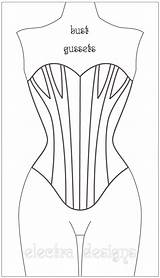Corset Coloring Template Adults sketch template