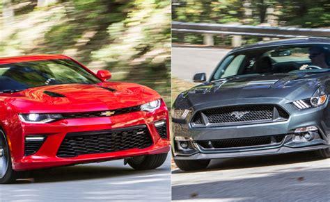 Car And Driver Mustang Vs Camaro by 2016 Chevrolet Camaro Ss Vs 2015 Ford Mustang Gt