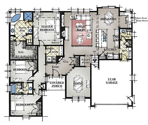 story house plans  bonus room  garage  joyous