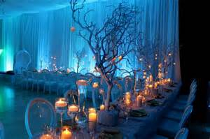 winter wedding theme decorating of