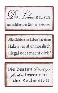 Schilder Mit Sprüchen : 3er set schilder magnet b x h 10x5cm shabby chic vintage ~ Michelbontemps.com Haus und Dekorationen