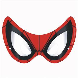 Spiderman Eye Mask - Pack Of 8 - Party Supplies Online