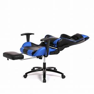Blue Office Chair High Back Computer Racing Gaming Chair ...