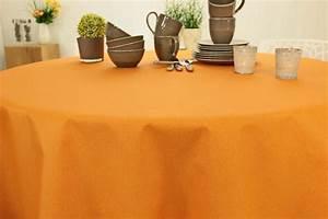 Abwaschbare Tischdecke Rund : tischdecke abwaschbar ockergelb uni dali ab 80 cm bis ~ Michelbontemps.com Haus und Dekorationen