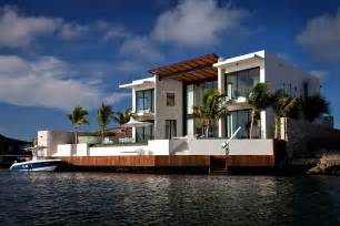 floating kitchen islands modern waterfront home bonaire the netherlands antilles