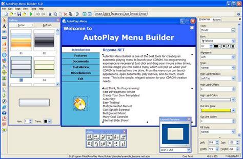 Autoplay Menu Builder Templates Autoplay Menu Builder V6 2