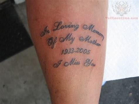 memory  mother tattoo