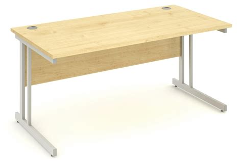 Solar Desk by Maple Rectangular Cantilever Office Desk 1200mm X 600mm