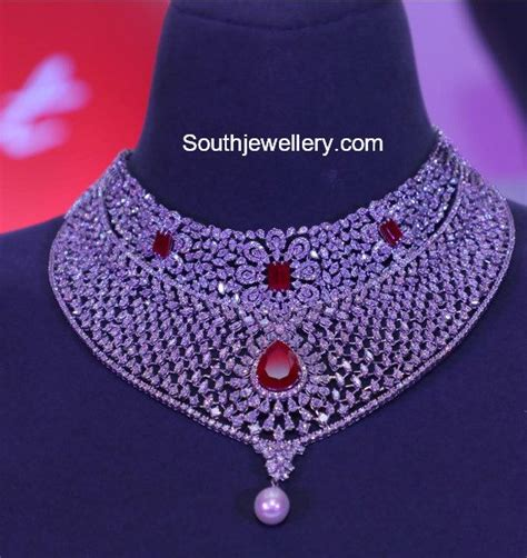 latest diamond necklace collection  tanishq indian