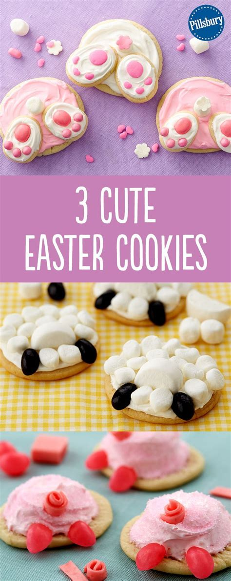 adorable cookie recipes 3 adorable easter cookies pillsbury sweet and 3316