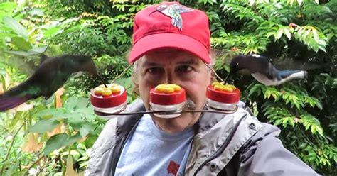 hummingbird feeder hat   fantastic birdwatching