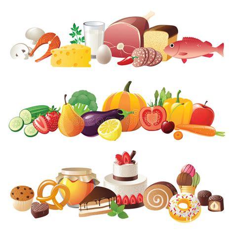 clipart bordi bordi dell alimento illustrazione vettoriale