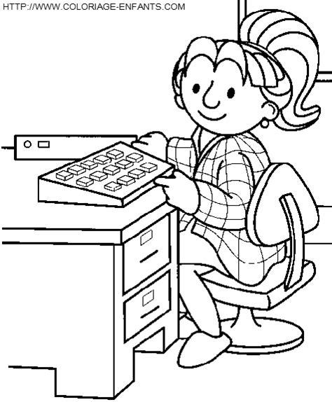 coloriage bureau coloriage bureau