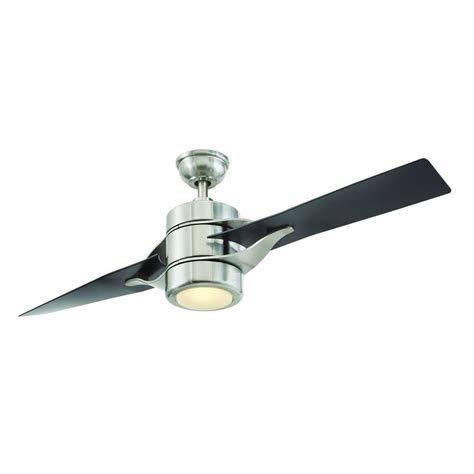 petersford 52 in led brushed nickel ceiling fan home decorators collection grenada 52 in led indoor