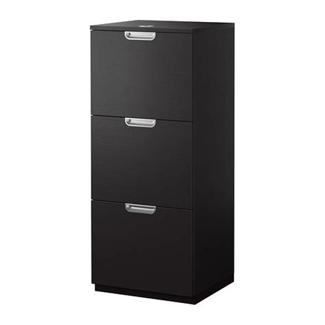 galant file cabinet black brown ikea