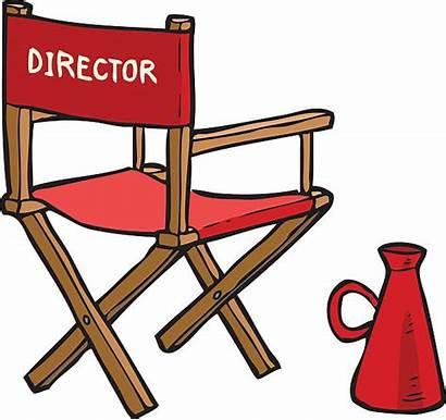 Director Chair Clipart Cartoon Theatre Illustration Vector