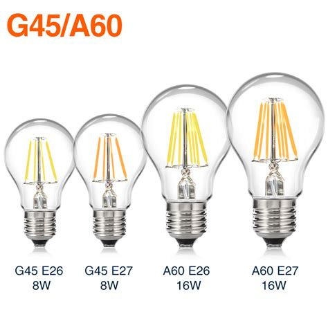 e27 e26 dimmable filament led bulb novelty edison lights ...