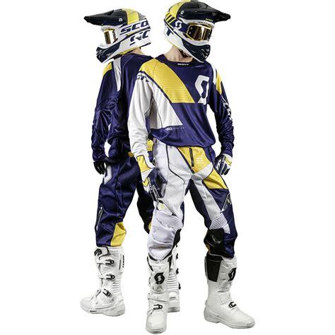 scott motocross gear scott 2017 mx gear new 450 podium blue white yellow dirt
