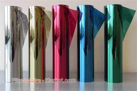 adhesif miroir sans tain miroir sans tain 5 couleurs largeur 51 cm