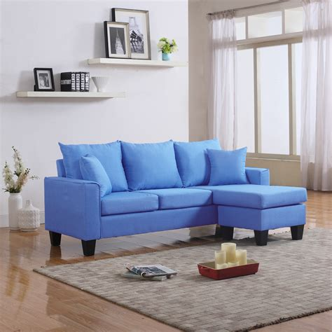 small sectional loveseat modern fabric small space sectional sofa with reversible