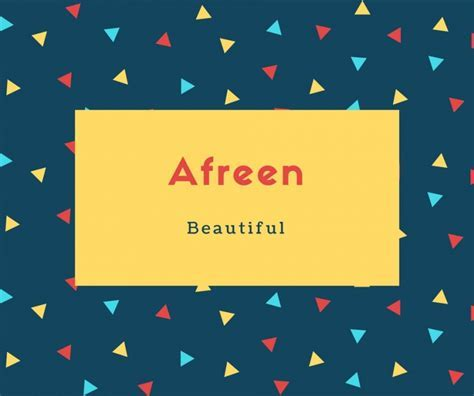 What is Afreen Name Meaning In Urdu   Afreen Meaning is