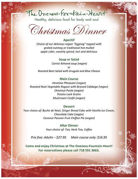 20+ Mouthwatering Christmas Dinner Menu Picshunger