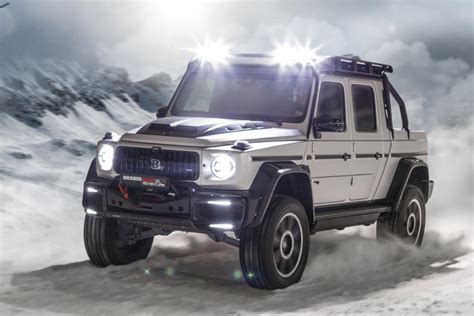 Brabus emblem for radiator grille illuminated. Brabus Turns Mercedes G63 AMG Into 800-HP Supertruck | CarBuzz