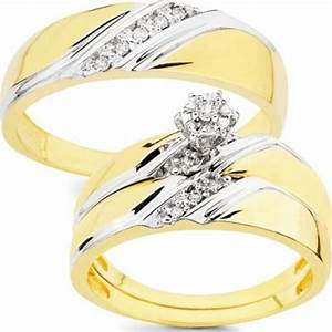 10k gold 1 10ct tdw his and her wedding ring set h i i1 With his her wedding ring sets