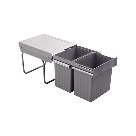 Poubelle Cuisine Coulissante - poubelle encastrable coulissante 2 bacs 32 litres