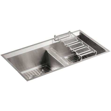 stainless steel undermount kitchen sink double bowl kohler 8 degree undermount stainless steel 33 in double