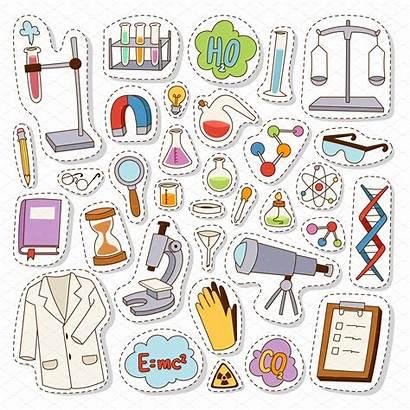 Stickers Science Chemistry Vector Pegatinas Kawaii Sticker