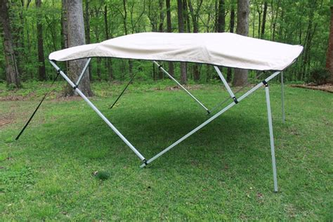 Pontoon Boat Bimini Top With Frame by New Vortex Square Frame 4 Bow Pontoon Deck Boat